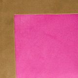 Brown and pink leather texture. Closeup background Stock Photography