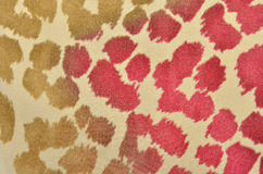 Brown and pink leopard fur pattern. Royalty Free Stock Image