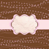 Brown and pink valentine vintage card. EPS 8 Royalty Free Stock Photos
