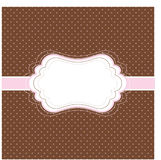 Brown and pink vintage card Royalty Free Stock Image
