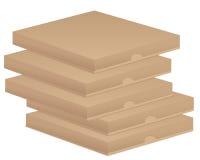 Brown pizza boxs Royalty Free Stock Photos