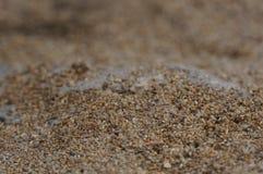 Brown plaży piasek fotografia stock