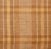 Brown plaid cloth texture Stock Photography