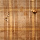 Brown plaid cloth texture Royalty Free Stock Photos
