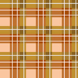 Brown plaid fabric Stock Photography