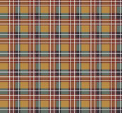 Brown plaid fabric Royalty Free Stock Photography
