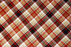 Brown plaid pattern. Close up Royalty Free Stock Image