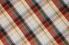 Brown plaid pattern. Close up Stock Photo