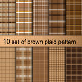 Brown plaid pattern Royalty Free Stock Photo