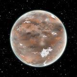 Brown planeta w przestrzeni Obraz Royalty Free