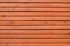Brown-Planken der hölzernen Wand Lizenzfreies Stockbild