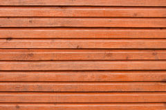 Brown planks of wooden wall Royalty Free Stock Image