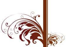 Brown plant pattern Stock Photo