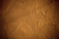Brown plaster wall Stock Photography