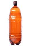 Brown plastic bottle Stock Image