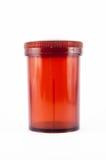 Brown plastic bottle for medicine dispensing Royalty Free Stock Photos