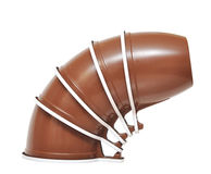 Brown plastic cup Stock Photography