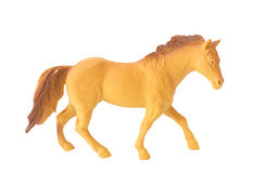 Brown plastic Horse toy isolate white background Royalty Free Stock Photography