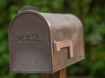 Brown Plastic Mailbox Stock Images