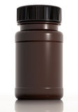 Brown plastic medical bottle Royalty Free Stock Photo