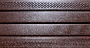 Brown plastic siding Stock Photos