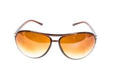 Brown plastic sunglasses  Stock Photo