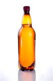 Brown-Plastikflasche Bier Lizenzfreies Stockbild