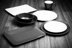 Brown plates Stock Image