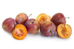 Brown plum fruit closeup Royalty Free Stock Images