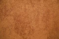Brown plush fabric close-up Stock Image
