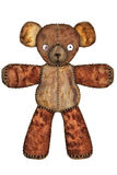 Brown plush teddy bear  Stock Image