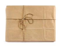 Brown poczta dostawy pakunek Zdjęcia Stock