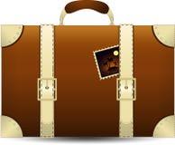 Brown podróż Suitecase. Wektorowa ilustracja Fotografia Stock