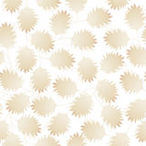 Brown pointy leaves in a seamless pattern Stock Image