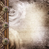 Brown pokrywa dla albumu z fotografiami Obrazy Royalty Free