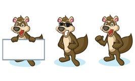 Brown Polecat Mascot happy Stock Photos