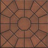 Brown Poligonalne Brukowe cegiełki Fotografia Stock