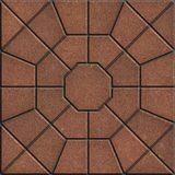 Brown Polygonal Paving Slabs. Stock Photography