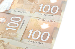 Brown polymer bank notes Stock Photo