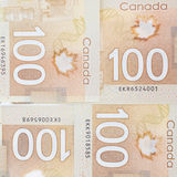 Brown polymer bank notes Stock Image