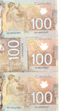 Brown polymer bank notes Royalty Free Stock Image