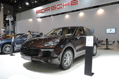 Brown porsche cayenne suv Stock Photography