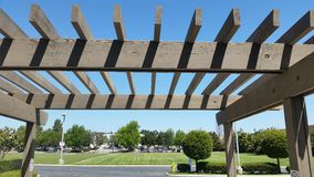 Brown Portland Pergola Stock Photography