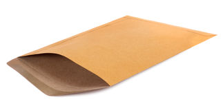 Brown postal envelope Stock Image