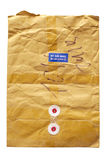 Brown postal envelope Royalty Free Stock Images