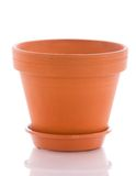 Brown pot. Isolated over white background Royalty Free Stock Photo