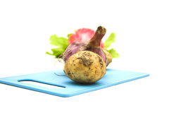 Brown Potato with Onion Royalty Free Stock Image