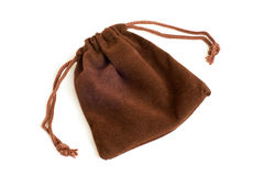 Brown pouch Stock Images