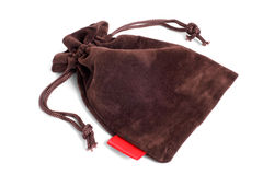 Brown pouch Royalty Free Stock Image