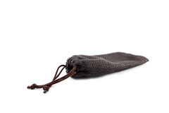 Brown pouch bag Stock Photography